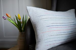 Chalkney Woven Cushion Cover   Grey - cushions
