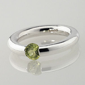 Plain Peridot Tension Ring - rings