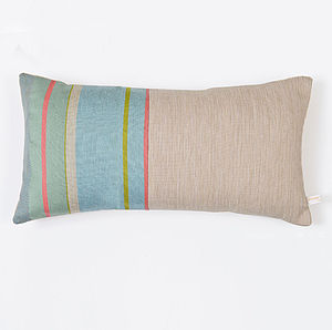 Fowey Stripe Woven Cushion - patterned cushions