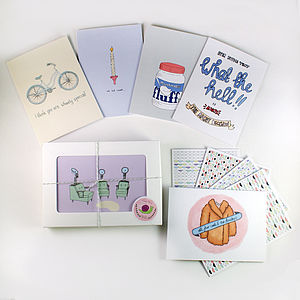 Retro Set Of Notecards