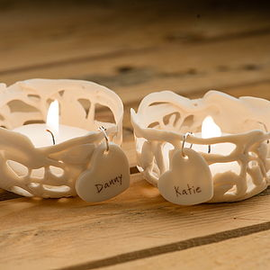 Personalised Couples Tea Light Holders - lighting
