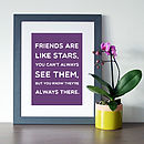 Purple background with grey frame