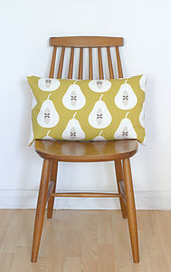 Pear Cushion - bedroom