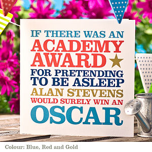 Personalised 'Oscar Winner' Card