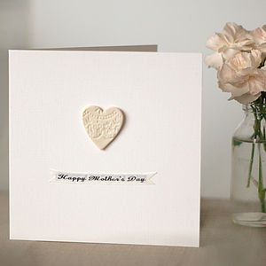 Porcelain Lace Mother's Day Keepsake Card - seasonal cards