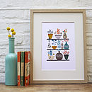 Flora And Succulents Illustrated Print