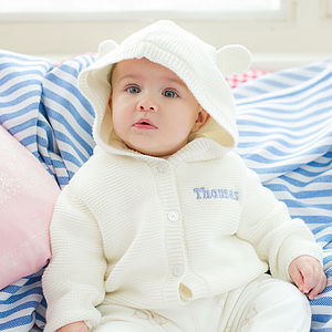 Personalised Knitted Hoodie With Ears - baby & child