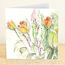 English Rose Greetings Card