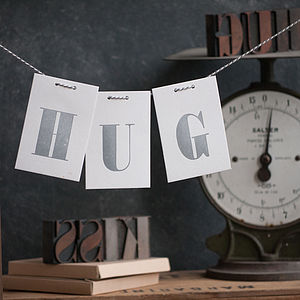 Post A Hug Letterpress Love Letter Keepsake Card - sympathy & sorry cards