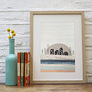 Sussex Sunset Illustrated Print
