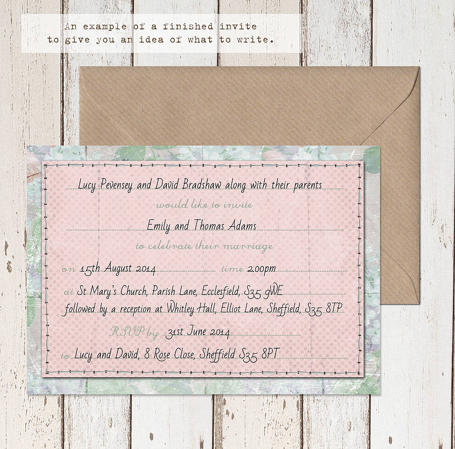 Wedding Stationery Collection 'summer Fete' By Lucy Ledger