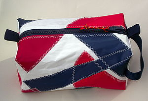 Asymmetric Design Sailcloth Wash Bag
