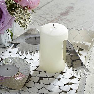 Pair Of Silver Candle Wings - table decorations