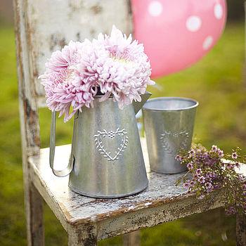 Heart Flower/ Herb Pots