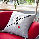 Personalised Valentines Cushion With Card