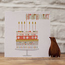 'Hip Hip Hooray' Birthday Greetings Card
