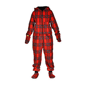 Tartan Onesie - men's fashion