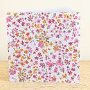 Summer Blossom Greetings Card
