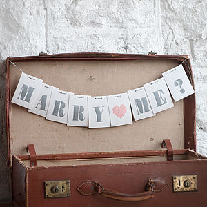 Marry Me? Love Letter Card - valentine's cards