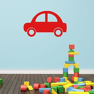 Cartoon Car Vinyl Wall Sticker - wall stickers