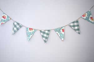 Floral Gingham Bunting - room decorations