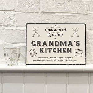 Personalised Vintage Style Kitchen Sign - aspiring chef