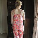 Nina Pyjama Set In Pink Bloom