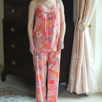 Nina Pyjama Set In Pink Bloom