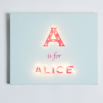 Pale Blue Background with Alice font