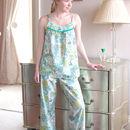 Nina Pyjama Set In Green Bloom