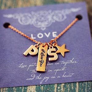 I Love You Tag Charm Necklace - charm jewellery