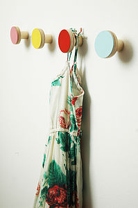 Wooden Wall Hooks - bathroom