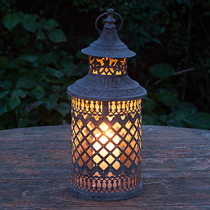 Marrakesh Lattice Candle Lantern - prepare for spring