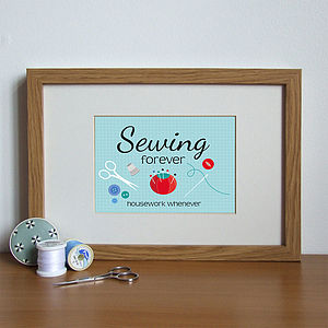 Sewing Forever Illustrated Print