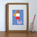 Retro Style Illustrated Ice Lolly Print