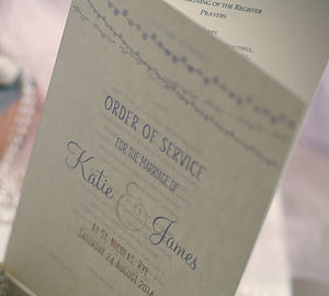 Celebrating Love Wedding Order Of Service - wedding stationery