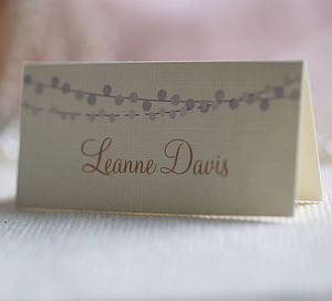 Fairy Lights Name Place Cards