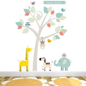 Sunny Safari Fabric Wall Stickers - office & study