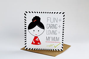 Mum Calculation Card - mother's day cards