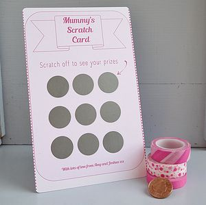 Mother's Day Scratchcard - personalised cards
