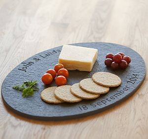 Personalised Slate British Oval Cheese Board