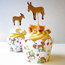 Cupcake Wrappers And Donkey Toppers