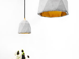 Concrete Handcrafted Pendant Lamp - living room