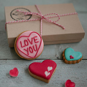 Love You Mini Biscuit Gift Box - love tokens for her