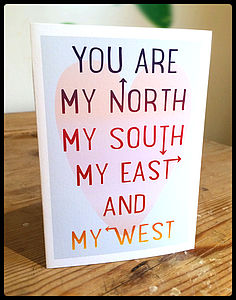 You Are My North, My South… - anniversary cards