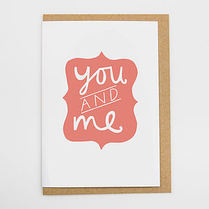 'You And Me' Card