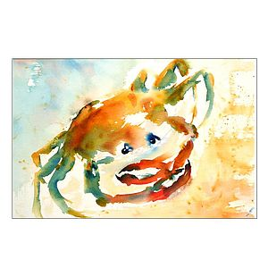 Cute Crab Original Painting - home accessories