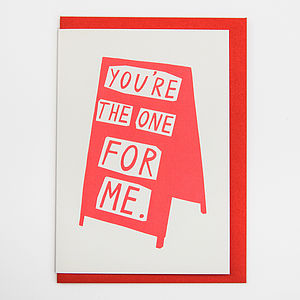 'You're The One For Me' Card - shop by category