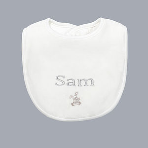 Personalised Bunny Bib - baby care