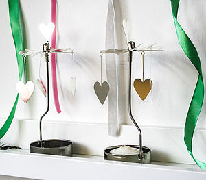 Rotary Tea Light Spinning 'Hearts' - votives & tea light holders